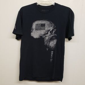 Black Military themed T-shirt